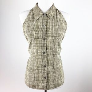 Liz Claiborne Button Down Blouse Collared 100%Silk